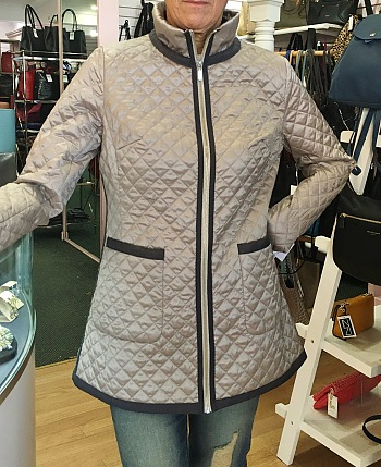 Satin Quilted Barn Jacket