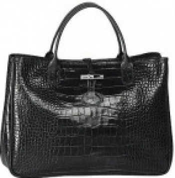 Roseau Croco Top Handle East West Handbag DISCONTINUED STYLE