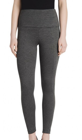 Center Seam Ponte Legging in Houndstooth Pattern