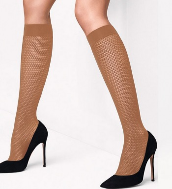 Rhomb Net Knee Highs