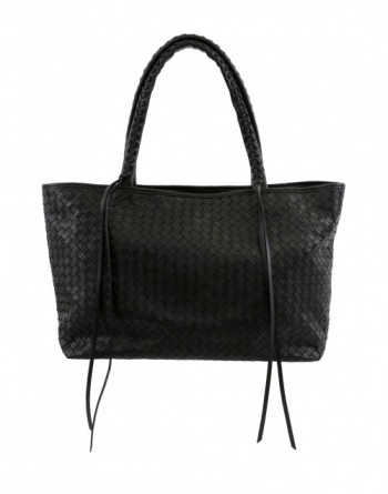 Woven Tote with Braided Straps