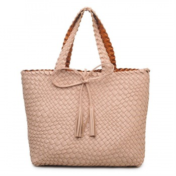 The Weekend Reversible Vegan Woven Tote