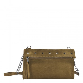 Paris Rocks Foldover Crossbody Bag in Suede