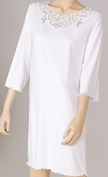 Juliette Three Quarter Sleeve Short Nightshirt
