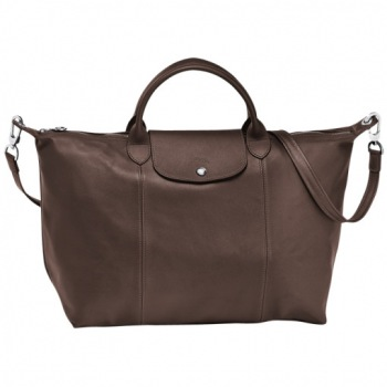 Le Pliage Cuir Large Handbag DISCONTINUED
