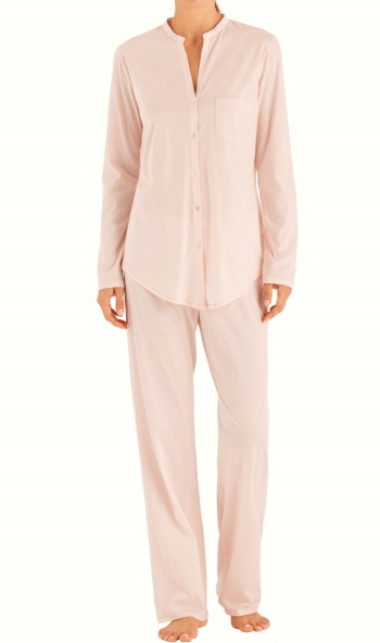 Cotton Deluxe Long Sleeve Button Front Pajama
