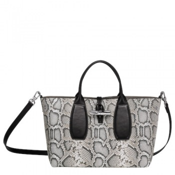 Roseau Python Medium Tote with Shoulder Strap