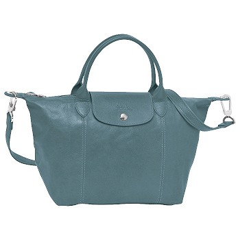 Le Pliage Cuir Medium Adjustable Shoulder Bag Colors on Sale