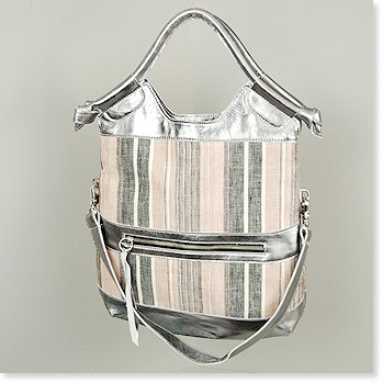 Foley + Corinna Mini City Tote in Linen with Silver Stripe : ac_mini_citytote_linen_silverstripe : Handbags : Foley/Corinna : Fall 2008 : Bagshop.com :  birkin bags bag retro accessories