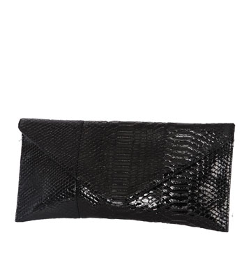 Faux Lizzard Skin Clutch