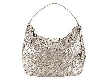 Optical Weave Small Rounded Hobo