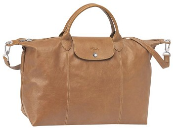 Le Pliage Cuir Medium Adjustable Shoulder Bag New Fall 2014