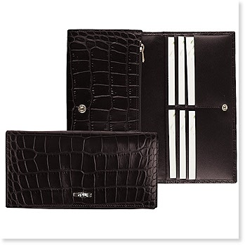 Roseau Croco All In One Checkbook Wallet Fall 2013