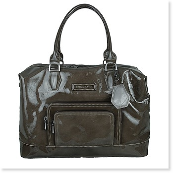 Legende Verni Medium Patent Leather Satchel  in Black