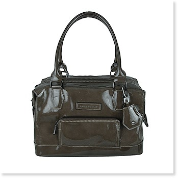 Patent Leather Small Shopper in Black