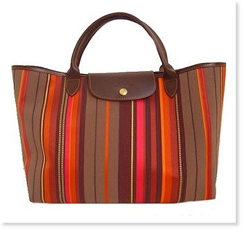 Longchamp Lumiere Open Tote MORE COLORS AVAILABLE : lc_lumiere_2913 : Handbags : Longchamp : Lumiere Tropical : Bagshop.com :  tote purses stripes longchamp