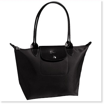 Planetes Medium Shopping Tote in BLACK ONLY