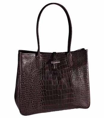 Roseau Croco East West Tote Bag