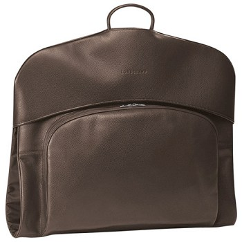 Veau Foulonne Leather Garment Bag