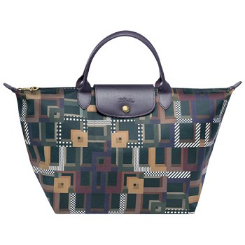 Le Pliage Artwalk Medium Handbag with Top Handle
