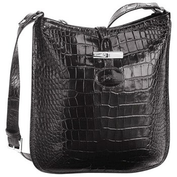 Roseau Croco Messenger Bag