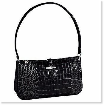 Roseau Croco Top Zip Shoulder Bag