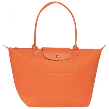 Planetes Large Long Handle Shopping Tote in Orange Only