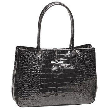 Roseau Croco Shoulder Tote New Spring 2016 Colors