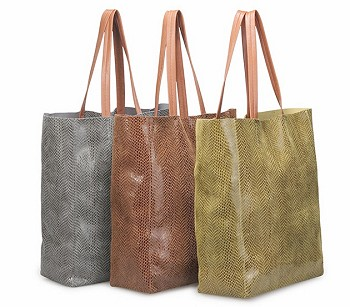 Rubina Snakeskin Tote AVAILABLE IN MANY COLORS