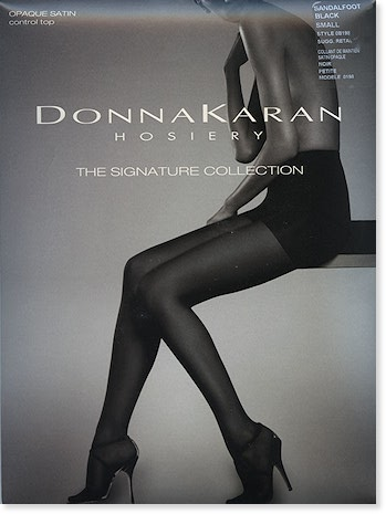 Donna Karan Signature Opaque Satin Control Top Tights