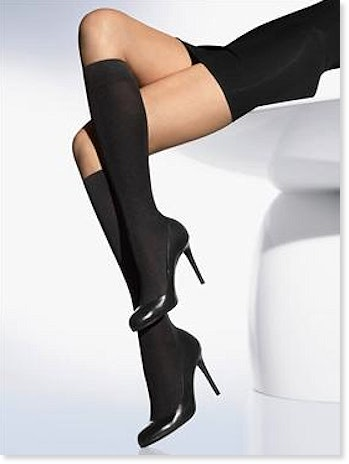 Cotton Velvet Knee Highs
