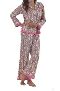 Hot Pink Royal Ribbon Pajama Set