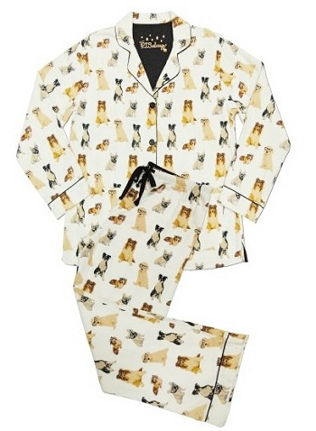 Classic Dogs Flannel Pajama Set