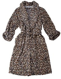 Leopard Robe Black and Ivory
