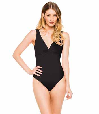 Twist-front underwired swimsuit 55 570