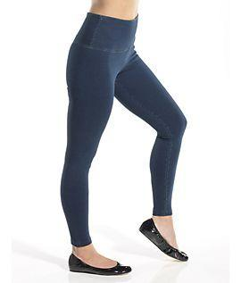 Perfect Wash Denim Knit Tight Ankle Legging