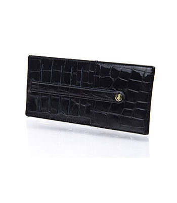Abas Mosiac Croco Credit Card File