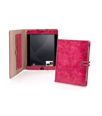 iPad Tabbed Folio with Easel in Tuscan Leather