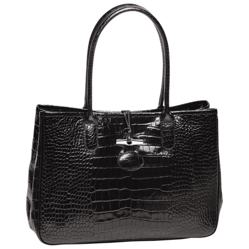 Roseau Croco Shoulder Tote DISCONTINUED STYLE