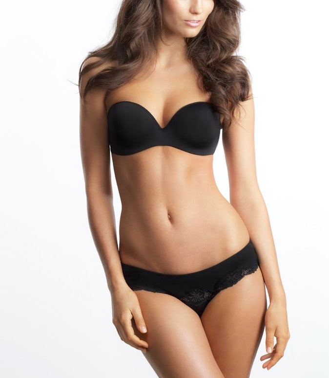 Sculptural Strapless Push up CLOSEOUT